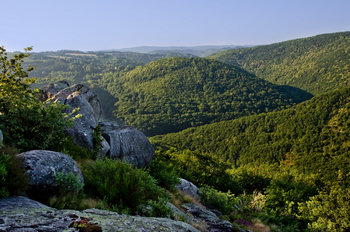 Point de vue au rocher de Peyremourou sur le sentier des bergers - Sidobre - Tarn